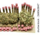 marijuana   matches | Shutterstock . vector #268063847