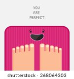 feet are standing at pink...   Shutterstock .eps vector #268064303