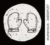 doodle kitchen gloves  | Shutterstock .eps vector #268069157