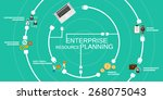 enterprise resource planning...   Shutterstock .eps vector #268075043