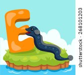 illustrator of letter 'e is for ... | Shutterstock .eps vector #268101203
