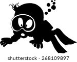 cartoon diver | Shutterstock .eps vector #268109897
