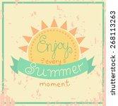 vector vintage hand lettering | Shutterstock .eps vector #268113263