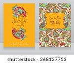 template for wedding invitation ... | Shutterstock .eps vector #268127753