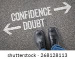 decision at a crossroad  ... | Shutterstock . vector #268128113
