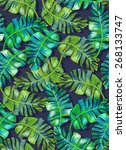 seamless tropical palm pattern. ... | Shutterstock . vector #268133747