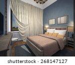 Classic Blue Bedroom 3d...