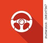 racing steering wheel. vector...   Shutterstock .eps vector #268147367
