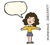 cartoon woman with speech bubble | Shutterstock .eps vector #268155977