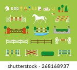 horse jumping obstacle arena | Shutterstock .eps vector #268168937