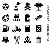 pollution icons | Shutterstock .eps vector #268209287