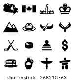canada icons | Shutterstock .eps vector #268210763