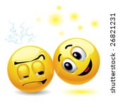 smiling ball trying to cheer up ... | Shutterstock .eps vector #26821231