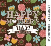 mothers day design  vector... | Shutterstock .eps vector #268218197