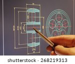 designer working on a cad... | Shutterstock . vector #268219313