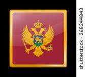 flag of montenegro. glossy...   Shutterstock .eps vector #268244843