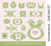 vector set  design elements and ... | Shutterstock .eps vector #268246157