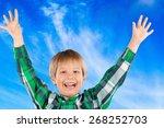fingers  discount  smile.   Shutterstock . vector #268252703