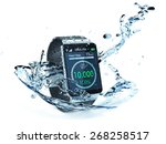 smartwatch with fitness app and ... | Shutterstock . vector #268258517