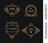 hipster logo set.