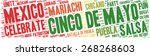 word cloud   cinco de mayo... | Shutterstock .eps vector #268268603