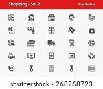 shopping icons. professional ... | Shutterstock .eps vector #268268723