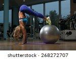 beautiful woman doing pike up...   Shutterstock . vector #268272707