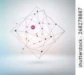 wireframe polygonal element for ... | Shutterstock .eps vector #268278887