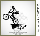 vector of bmx cyclist  | Shutterstock .eps vector #268279523