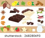 chocolate tastes a collection... | Shutterstock .eps vector #268280693