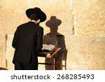 Religious Orthodox Jew Praying...