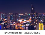 abstract bokeh bangkok city... | Shutterstock . vector #268304657