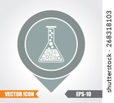lab glass icon on map pointer....   Shutterstock .eps vector #268318103