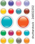 glossy buttons set | Shutterstock .eps vector #26832202