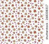 small vector flowers seamless... | Shutterstock .eps vector #268338317