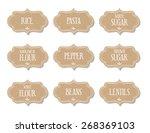 cardboard food labels or... | Shutterstock .eps vector #268369103
