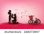 concept of valentine day   two... | Shutterstock .eps vector #268372847