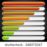 progress loading bars. vector