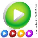 play button  arrowhead cut in...   Shutterstock .eps vector #268375847