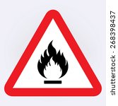 fire warning sign | Shutterstock .eps vector #268398437