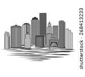 modern city skyline  excellent... | Shutterstock .eps vector #268413233