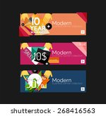 set of banners with stickers ... | Shutterstock .eps vector #268416563