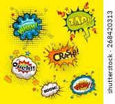 comic speech bubbles vector | Shutterstock .eps vector #268420313