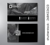 modern business card design... | Shutterstock .eps vector #268422623