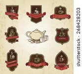 coffee vintage labels design... | Shutterstock .eps vector #268428203