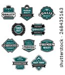 retro labels set with western... | Shutterstock . vector #268435163