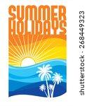 summer holidays illustration  ... | Shutterstock .eps vector #268449323