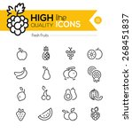 fruits line icons including ... | Shutterstock .eps vector #268451837