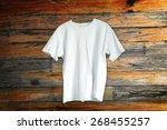 t shirt on a hanger | Shutterstock . vector #268455257