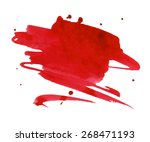 red watercolor stain with... | Shutterstock .eps vector #268471193